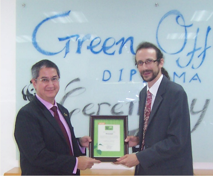 TRG International awarded the Green Office Diploma