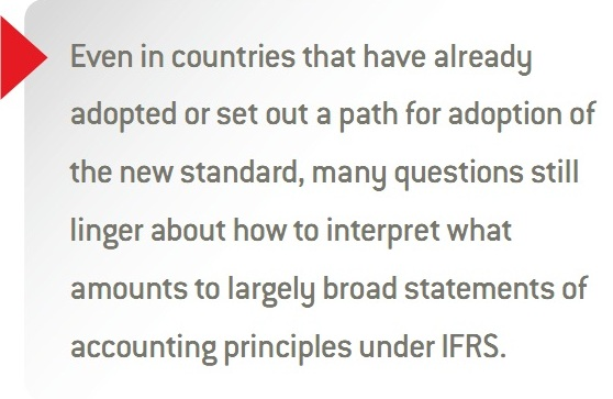 SEA CHANGE:  TRANSITIONING TO IFRS