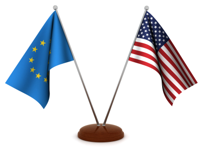 Us Eu flags