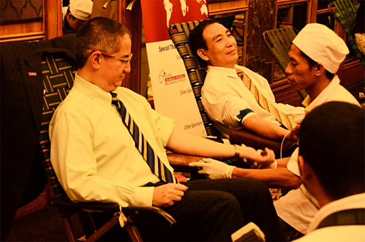 trg international amcham world blood donor day 2012