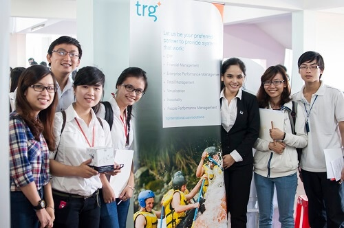 TRG made the first appearance on University of Economy and Law's Career Day