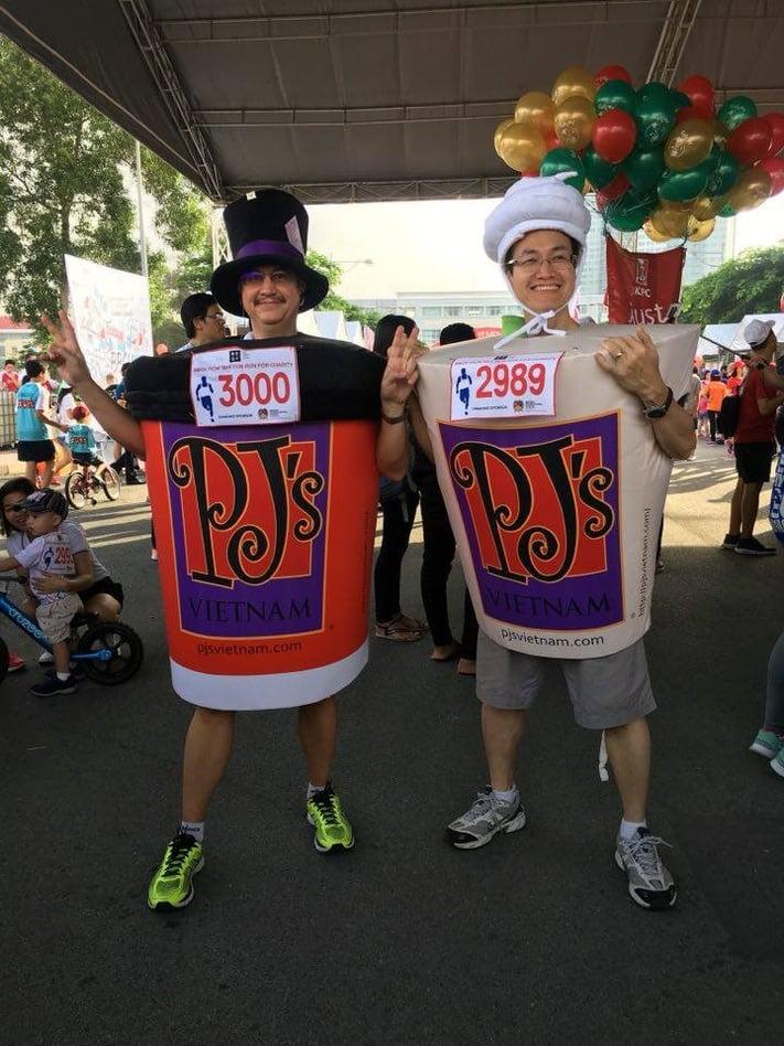 Rick-and-Thai-Pham-in-PJ-costumes