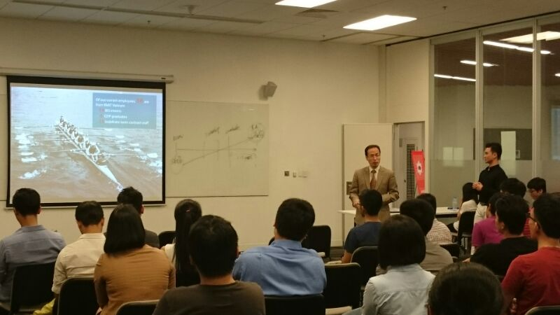 Mr-Pham-Hong-Thai-was-sharing-career-path-in-TRG-International-to-new-BIS-students