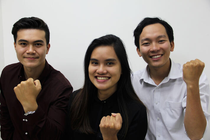 RMIT Vietnam interns at TRG