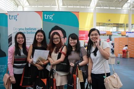 Students joined TRG International Booth