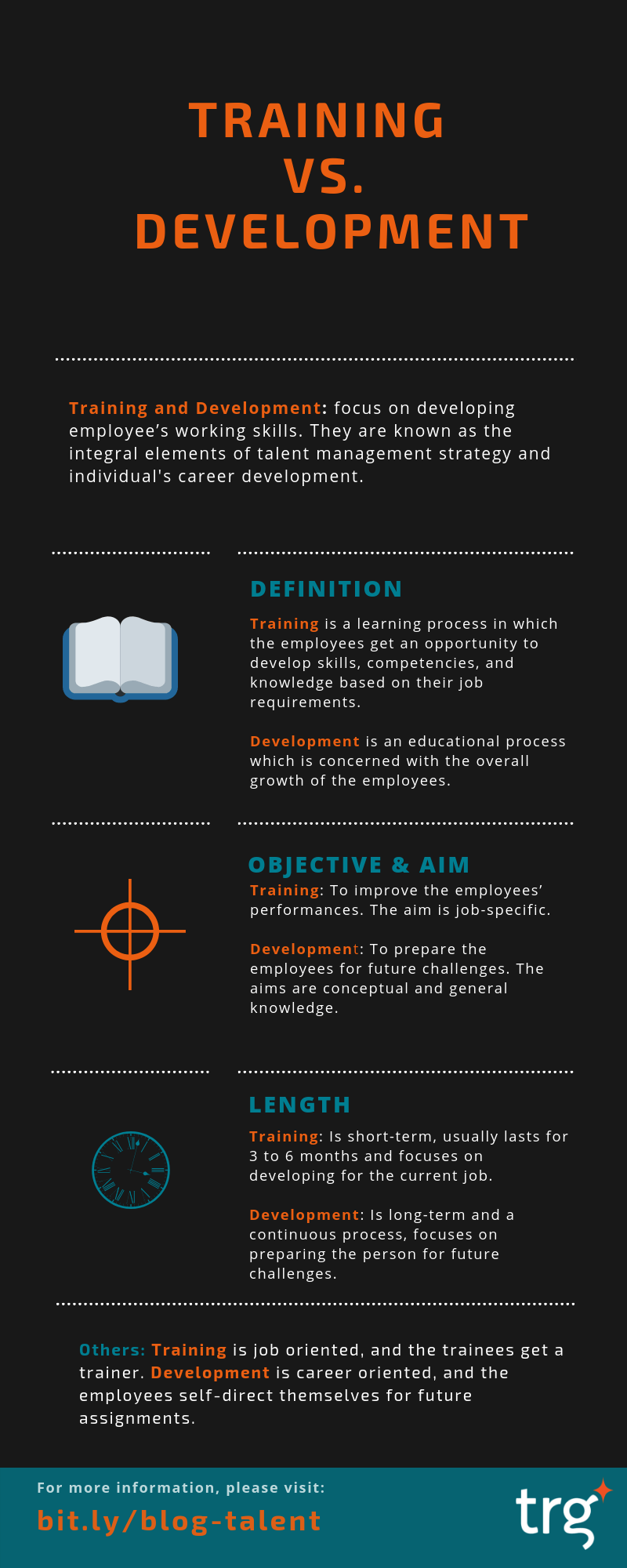 Infographic 3 core differences between Training and Development-EN