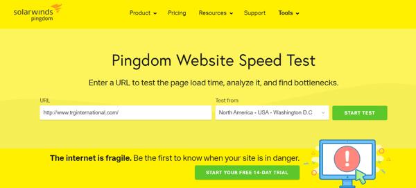 Website performance - Pingdom