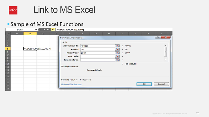 Tích hợp Excel vào ERP