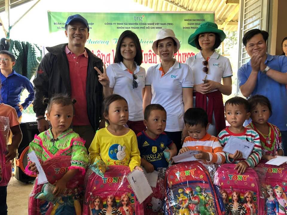 hoạt động CSR do TRG tổ chức