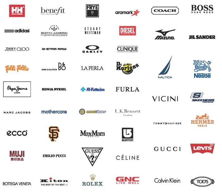 Một số thương hiệu quốc tế đang sử dụng Retail Pro