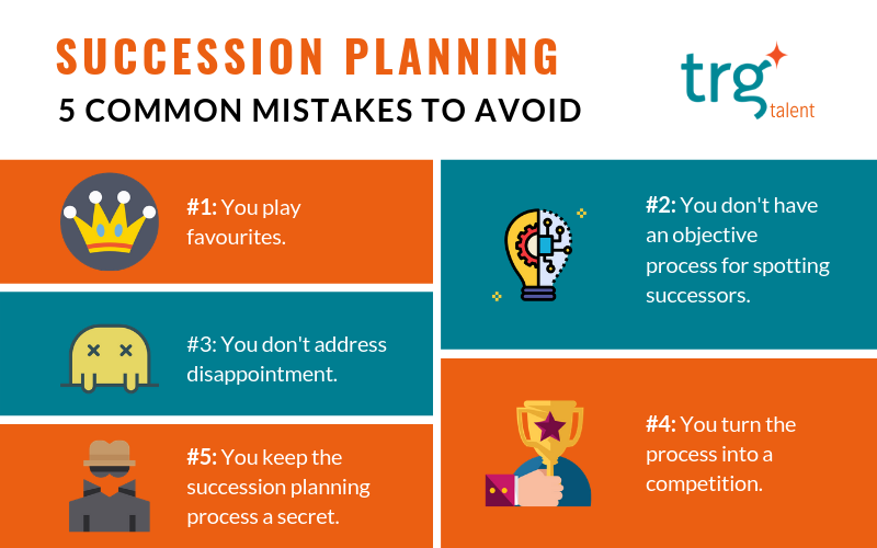 5 common succession planning mistakes