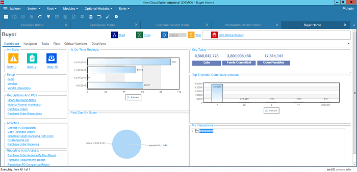 Infor CloudSuite Industrial for Buying Managers