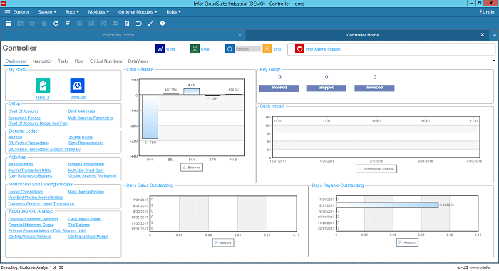 Infor CloudSuite Industrial for Controllers