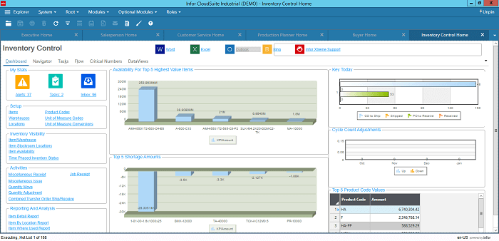 Infor CloudSuite Industrial for Inventory Managers