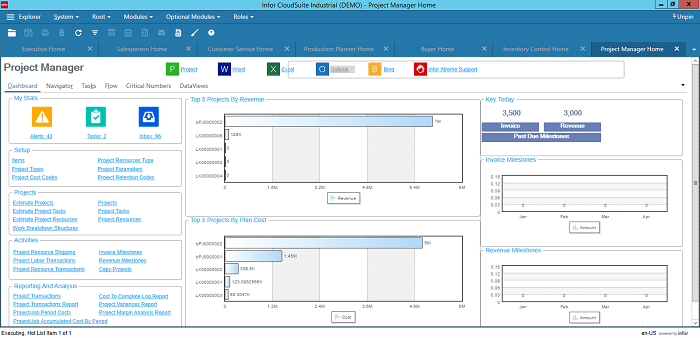 Infor CloudSuite Industrial for Project Managers