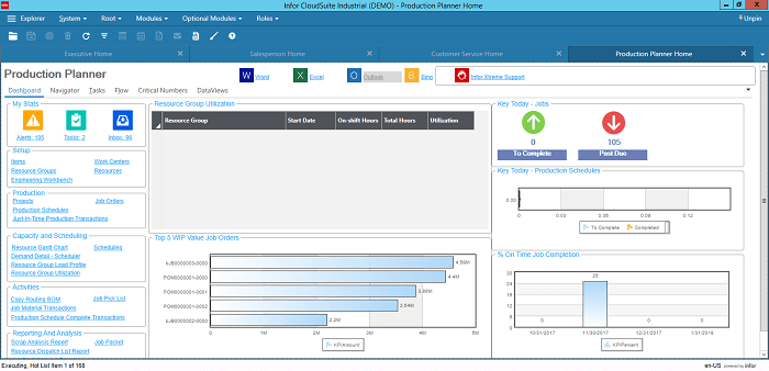 Infor CloudSuite Industrial for Production Planners