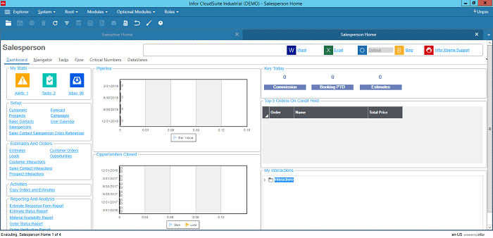 Infor CloudSuite Industrial for Sales Managers