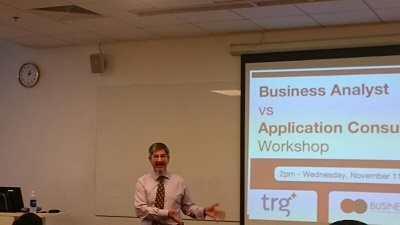 """TRG conducted the workshop """"Business Analyst vs Application Consultant"""" at RMIT University"""