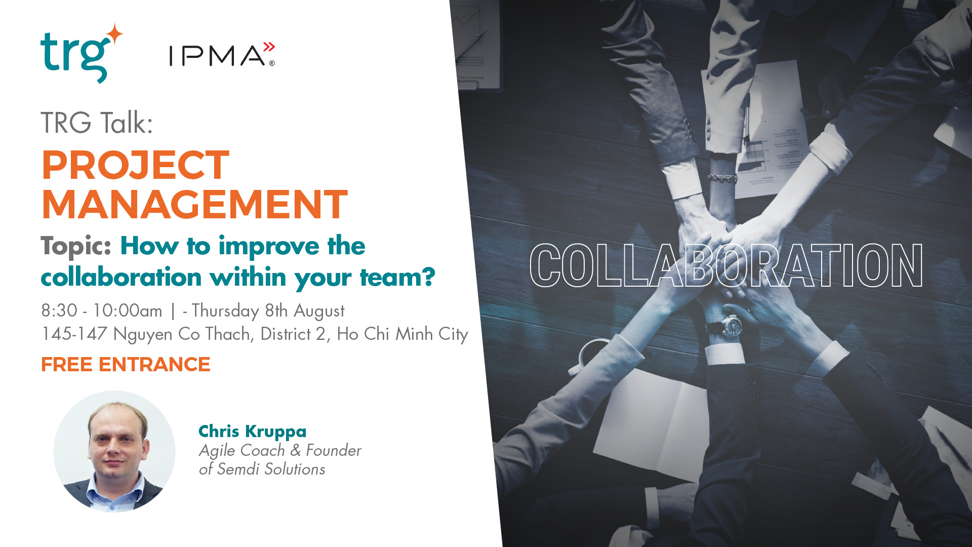 TRG Talk Project Management This August Brings The Topic of Team Collaboration On Stage
