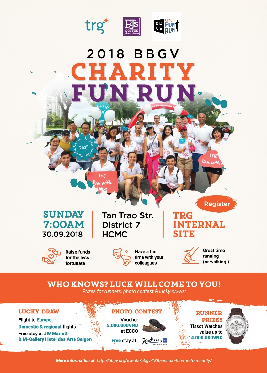 Come and join the BBGV Charity Fun Run with TRG International