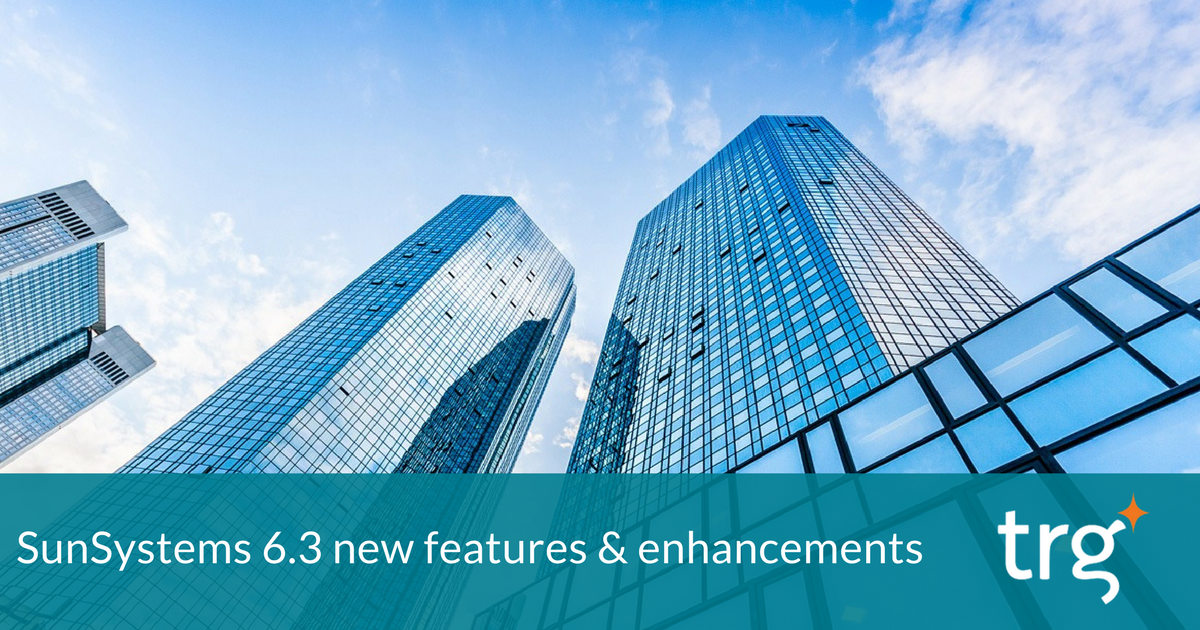 An overview of Infor SunSystems 6.3