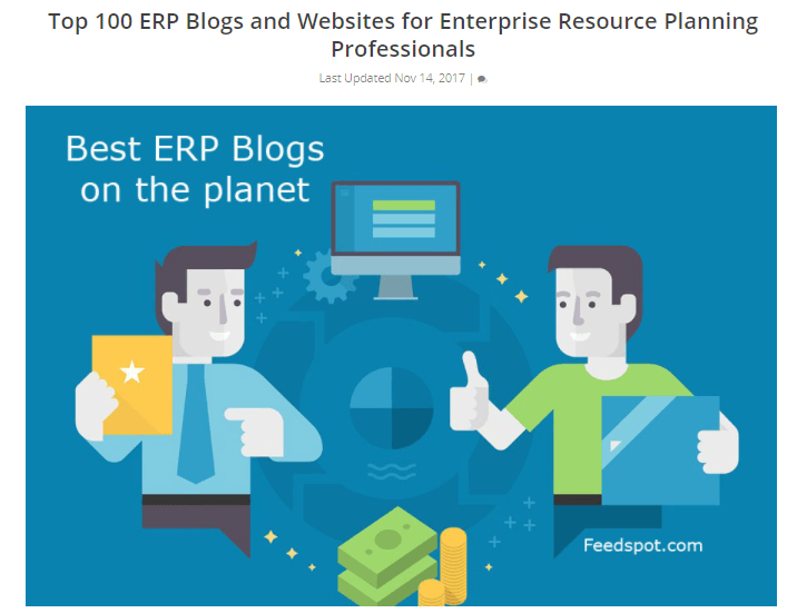 TRG Blog Ranked 29th Best Blog about ERP in the World