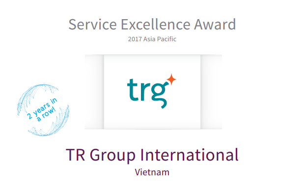 TRG International wins the 2017 Retail Pro's Service Excellence Award